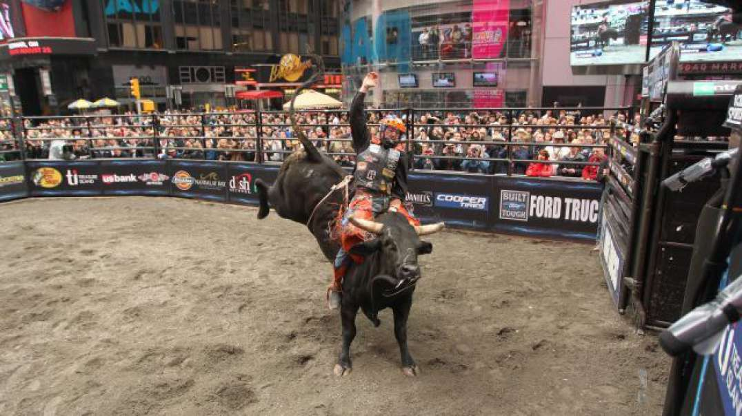 Professional Bull Riders Invades New York City's Times Square.
