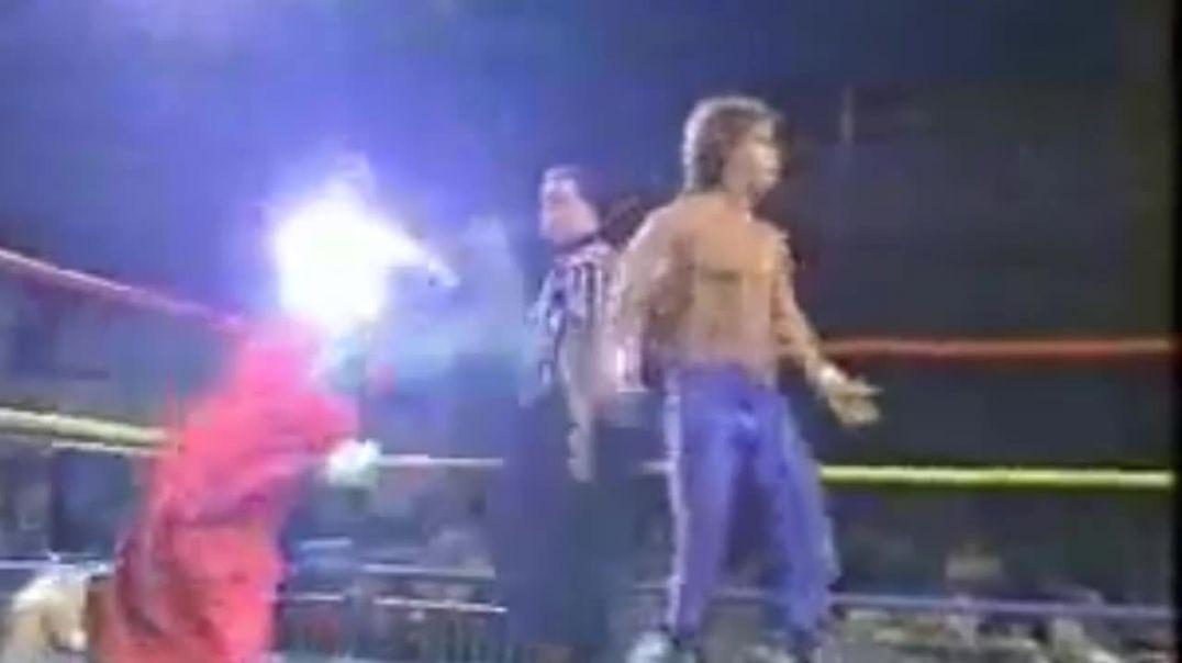 CHRIS BENOIT ACCIDENTLY  BREAKS SABU'S  NECK ECW