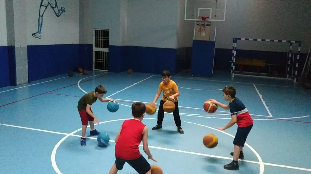 Training for a dribbling show